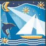 """Набор для вышивки """"Море"""" 1 шт. (""""Panna"""" Ф-0335) 21.5см х 21.5см"""