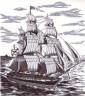 """Набор для вышивки """"На морских просторах"""" 1 шт. (""""Panna"""" КР-1296) 32см х 36см"""
