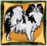 """Набор для вышивки """"Лорд (серо-желтые тона)"""" подушка 1 шт. (""""Panna"""" ПД-640) 36см х 36см"""