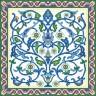 """Набор для вышивки """"Синий узор"""" 1 шт. (""""Panna"""" О-0406) 36см х 36см"""