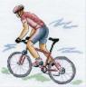 """Набор для вышивки """"Велосипедист"""" 1 шт. (""""Panna"""" СТ-0545) 14см х 14см"""