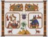 """Набор для вышивки """"Осирис и Анубис"""" 1 шт. (""""Panna"""" ЕМ-0272) 35см х 27см"""