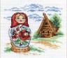"""Набор для вышивки """"Матрешка"""" 1 шт. (""""Panna"""" НМ-0654) 14см х 13см"""