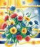 """Набор для вышивки """"Яркие цветы"""" 1 шт. (""""Panna"""" Ц-0099) 19.5см х 23.5см"""