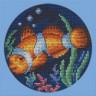 """Набор для вышивки """"Рыбка-клоун"""" 1 шт. (""""Panna"""" Р-0557) 12см х 12см"""