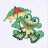 """Набор для вышивки """"Лягушонок с зонтиком"""" 1 шт. (""""Panna"""" Д-0216) 10.5см х 10см"""