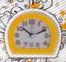 Часы-будильник кварцевый 1 шт. (3010) 8см х 7.5см х 3.5см 85 гр. пластик