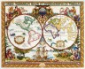"""Набор для вышивки """"Старинная карта мира"""" 1 шт. (""""Janlynn"""" 015-0223) 45.7см х 38.1см"""