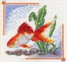 """Набор для вышивки """"Золотая рыбка"""" 1 шт. (""""Panna"""" Д-0190) 14см х 14см"""