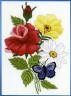"""Набор для вышивки """"Бабочка на цветах"""" 1 шт. (""""Janlynn"""" 004-0853) 12.7см х 17.8см"""