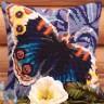 """Набор для вышивки """"Чарующая бабочка"""" подушка 1 шт. (""""Collection D'Art"""" 5081) 40см х 40см"""