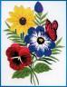 """Набор для вышивки """"Цветы"""" 1 шт. (""""Janlynn"""" 004-0852) 12.7см х 17.8см"""
