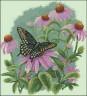 """Набор для вышивки """"Бабочка и ромашки"""" 1 шт. (""""Dimensions"""" 35249) 28см х 28см"""