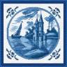"""Набор для вышивки """"Голубые башни"""" 1 шт. (""""Panna"""" ГТ-0236) 17.4см х 17.4см"""