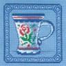 """Набор для вышивки """"Чашка"""" 1 шт. (""""Panna"""" Н-0478) 12см х 12см"""