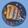 """Набор для вышивки """"Рыбка-бабочка"""" 1 шт. (""""Panna"""" Р-0556) 12см х 12см"""