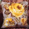 """Набор для вышивки """"Античная роза"""" подушка 1 шт. (""""Collection D'Art"""" 5051) 40см х 40см"""