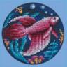"""Набор для вышивки """"Рыбка-петушок"""" 1 шт. (""""Panna"""" Р-0558) 12см х 12см"""
