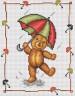 """Набор для вышивки """"Зонтики"""" 1 шт. (""""Panna"""" Д-0200) 16см х 21.3см"""