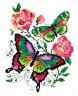 """Набор для вышивки """"Бабочки и розы"""" 1 шт. (""""Чудесная Игла"""" 42-04) 14см х 18см"""
