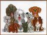 """Набор для вышивки """"Собаки"""" 1 шт. (""""Janlynn"""" 038-0178) 38.1см х 25.4см"""