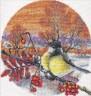 """Набор для вышивки """"Морозный вечер"""" 1 шт. (""""Panna"""" ПТ-0165) 21.5см х 21.5см"""
