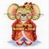 """Набор для вышивки """"Мышка Минако"""" 1 шт. (""""Panna"""" Д-0177) 10см х 11см"""