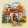 "Набор для вышивки ""Осенний сад"" 1 шт. (""Panna"" АД-0445) 12.5см х 12.5см"