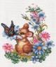"""Набор для вышивки """"Любопытный мышонок"""" 1 шт. (""""Panna"""" Д-0274) 20см х 23см"""