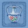 "Набор для вышивки ""Вазочка"" 1 шт. (""Panna"" Н-0475) 12см х 12см"