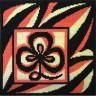 "Набор для вышивки ""Символ гармонии (черно-оранж.)"" подушка 1 шт. (""Panna"" ПД-493) 36см х 36см"