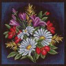 """Набор для вышивки """"Луговые цветы"""" 1 шт. (""""Panna"""" Ц-0957) 24см х 24см"""