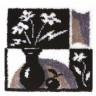 """Набор для вышивки """"Черное и белое"""" 1 шт. (""""Panna"""" КИ-0718) 45см х 45см"""