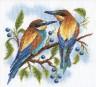 """Набор для вышивки """"Яркие птички"""" 1 шт. (""""Panna"""" ПС-0429) 19.5см х 19.5см"""