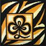 """Набор для вышивки """"Символ гармонии (черно-коричн.)"""" подушка 1 шт. (""""Panna"""" ПД-493) 36см х 36см"""