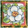 """Набор для вышивки """"Цветок жасмина"""" подушка 1 шт. (""""Panna"""" Ц-638) 36см х 36см"""