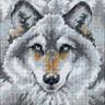 """Набор для вышивки """"Зов волка"""" 1 шт. (""""Dimensions"""" 07211) 13см х 13см"""