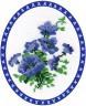 """Набор для вышивки """"Синие колокольчики"""" 1 шт. (""""Panna"""" Ц-0066) 16см х 18см"""