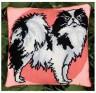 """Набор для вышивки """"Лорд (серо-розовые тона)"""" подушка 1 шт. (""""Panna"""" ПД-640) 36см х 36см"""