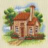 """Набор для вышивки """"Домик в саду"""" 1 шт. (""""Panna"""" АД-0443) 12.5см х 12.5см"""