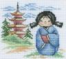 """Набор для вышивки """"Японская куколка"""" 1 шт. (""""Panna"""" НМ-0655) 14см х 13см"""
