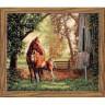 """Набор для вышивки """"Лошадь с жеребенком """" 1 шт. (""""Dimensions"""" 35260) 36см х 30см"""