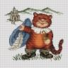 """Набор для вышивки """"Кот в сапогах"""" 1 шт. (""""Panna"""" Д-0242) 17.5см х 16.5см"""