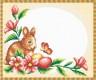 """Набор для вышивки """"Пасхальный кролик"""" салфетка 1 шт. (""""Panna"""" ПР-0229) 45см х 42см"""