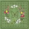 """Набор для вышивки """"Цветочный узор.Бабочка"""" 1 шт. (""""Panna"""" Ц-0736) 26.4см х 26.4см"""