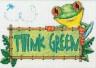 """Набор для вышивки """"Зеленые мысли от лягушки"""" 1 шт. (""""Dimensions"""" 65098) 18см х 13см"""