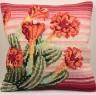 """Набор для вышивки """"Пустынный кактус"""" подушка 1 шт. (""""Collection D'Art"""" 5100) 40см х 40см"""