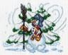 """Набор для вышивки """"Снеговик"""" 1 шт. (""""Panna"""" С-0057) 20.5см х 17см"""