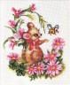 """Набор для вышивки """"Мышонок с букетом"""" 1 шт. (""""Panna"""" Д-0276) 20см х 23см"""