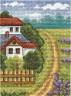 """Набор для вышивки """"Лавандовое поле"""" 1 шт. (""""Panna"""" ПС-1154) 9см х 12см"""